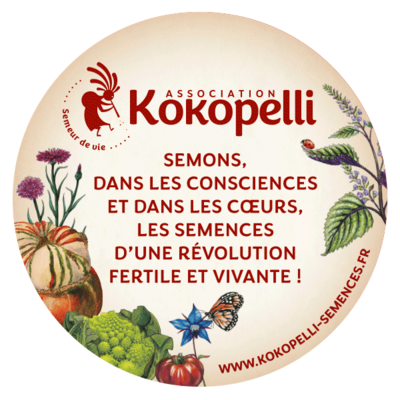Autocollants - Nouvel autocollant Rond Kokopelli avec citation