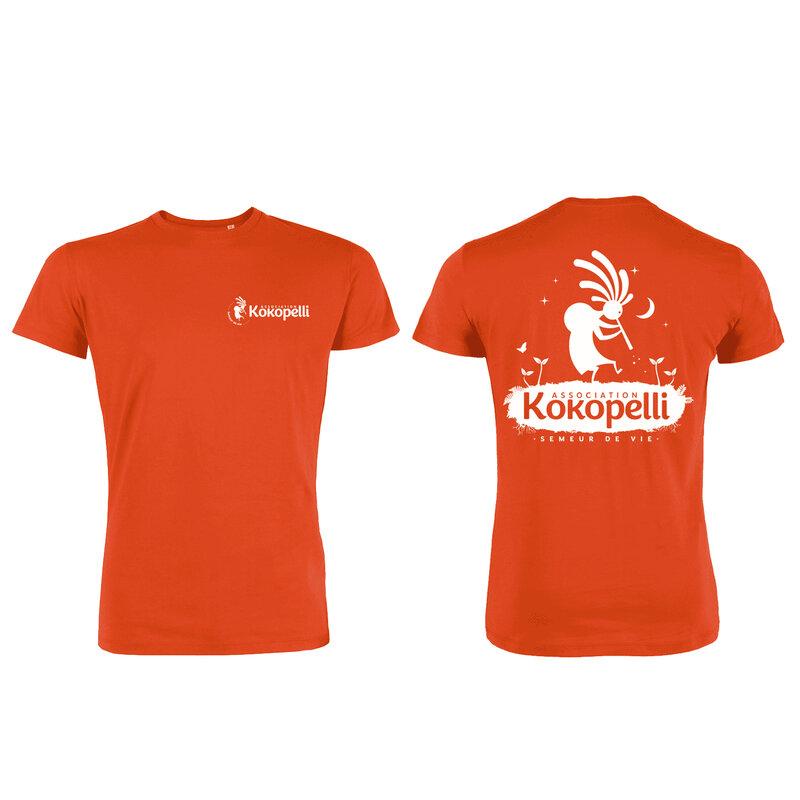 Vêtements - T-Shirt homme orange, taille XL