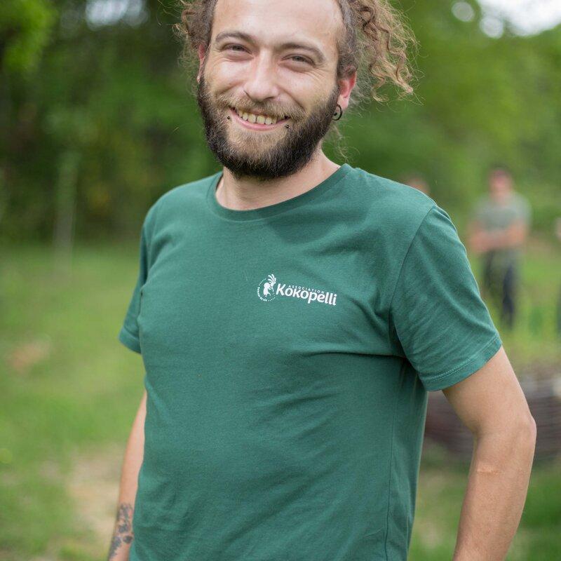 Vêtements - T-Shirt homme vert bouteille, taille XL