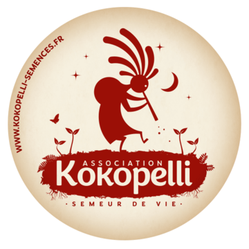 Autocollants - Nouvel autocollant Rond Logo Kokopelli