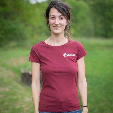 Vêtements - T-Shirt femme burgundy, taille S