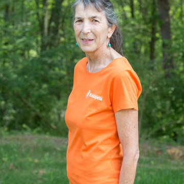 Vêtements - T-Shirt femme orange, taille XS