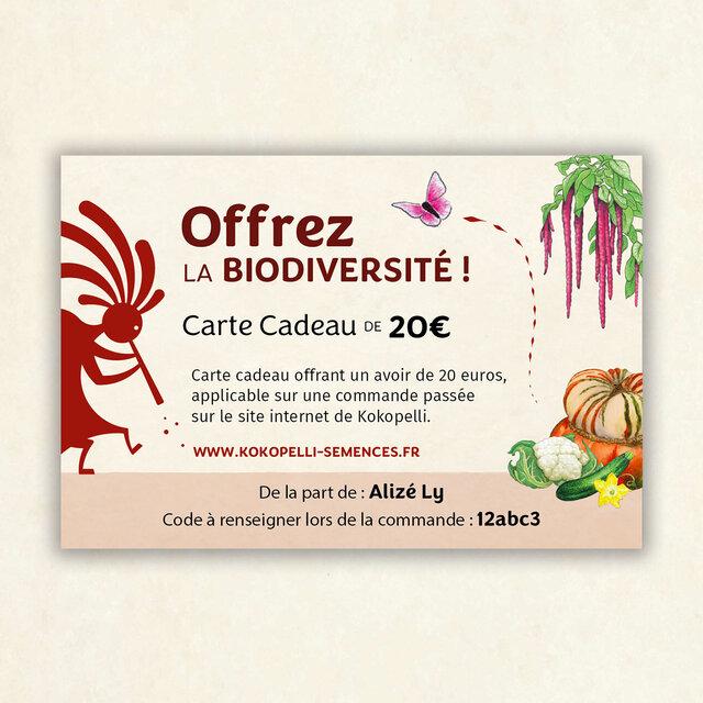 Cartes-Cadeaux - 20 €