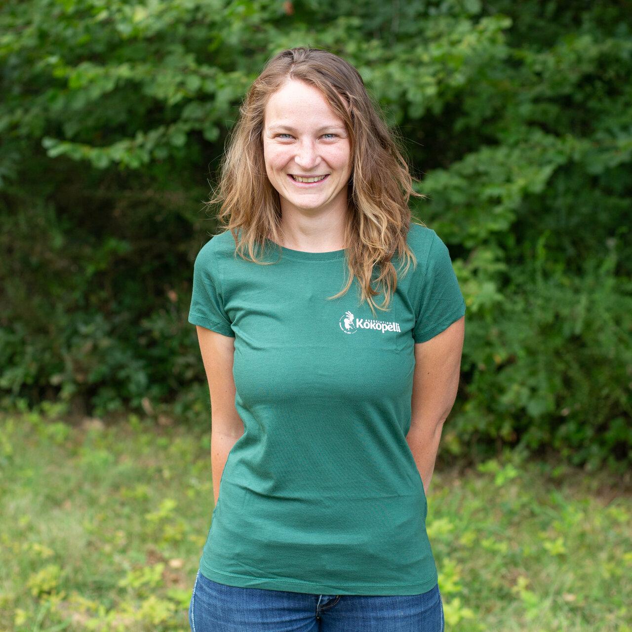 Vêtements - T-Shirt femme vert bouteille, taille M