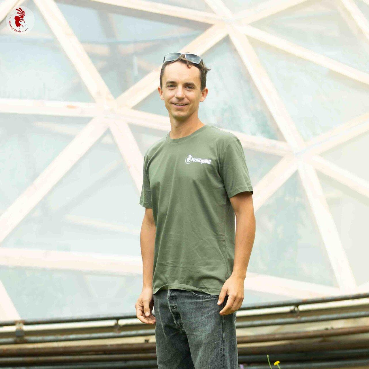 Vêtements - T-Shirt homme kaki, taille XXL