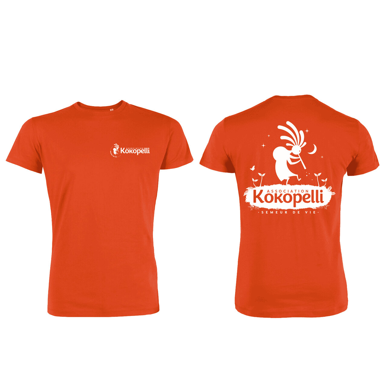 Vêtements - T-Shirt homme orange, taille L