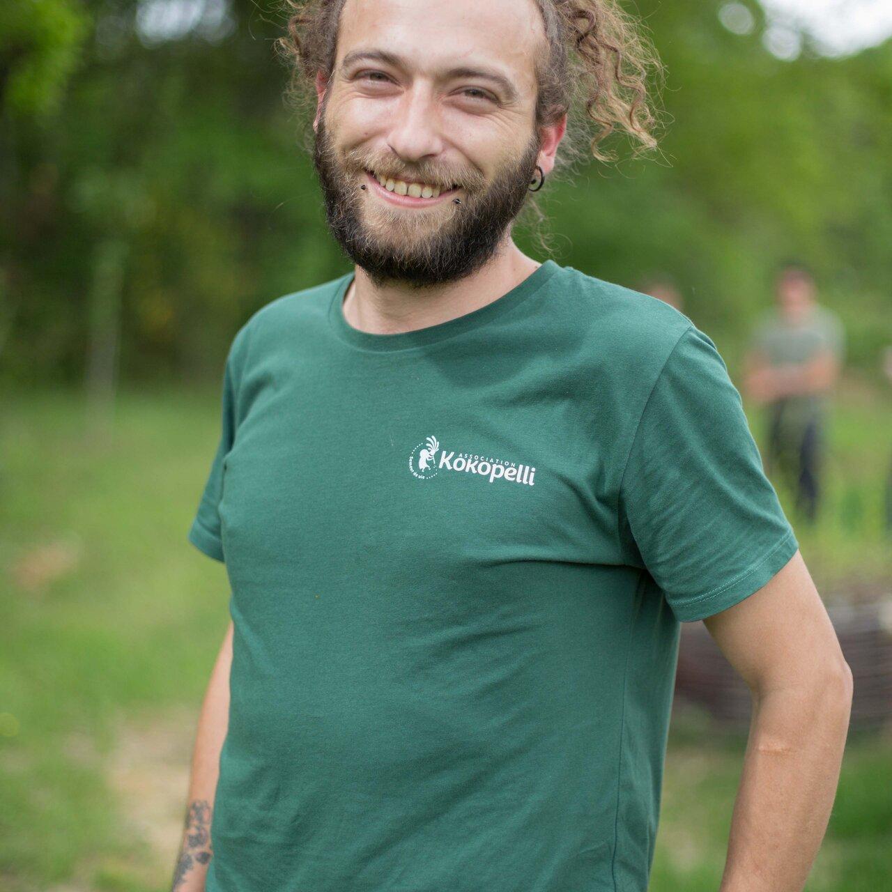 Vêtements - T-Shirt homme vert bouteille, taille M